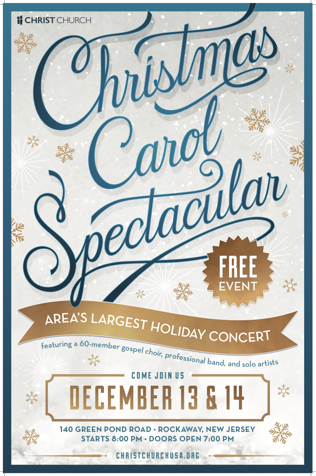 Christmas Carol Spectacular at Christ Church Rockaway