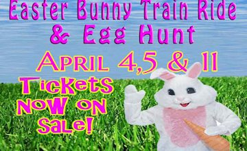 The Easter Bunny Train Ride and Easter Egg Hunt at The Delaware River Railroad Excursions