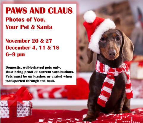Paws and Claus at Bergen Town Center