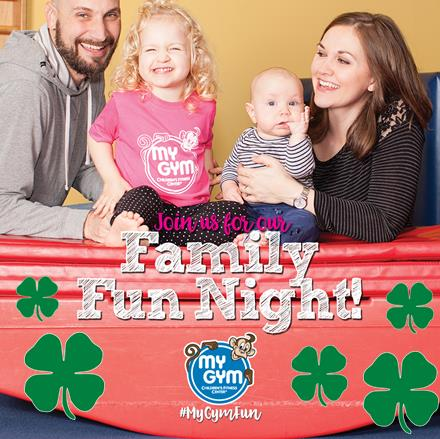 St. Patrick's Family Fun Night at My Gym New Providence