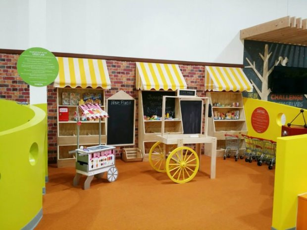 Kids love our supermarket play area and will spark your child's imagination!