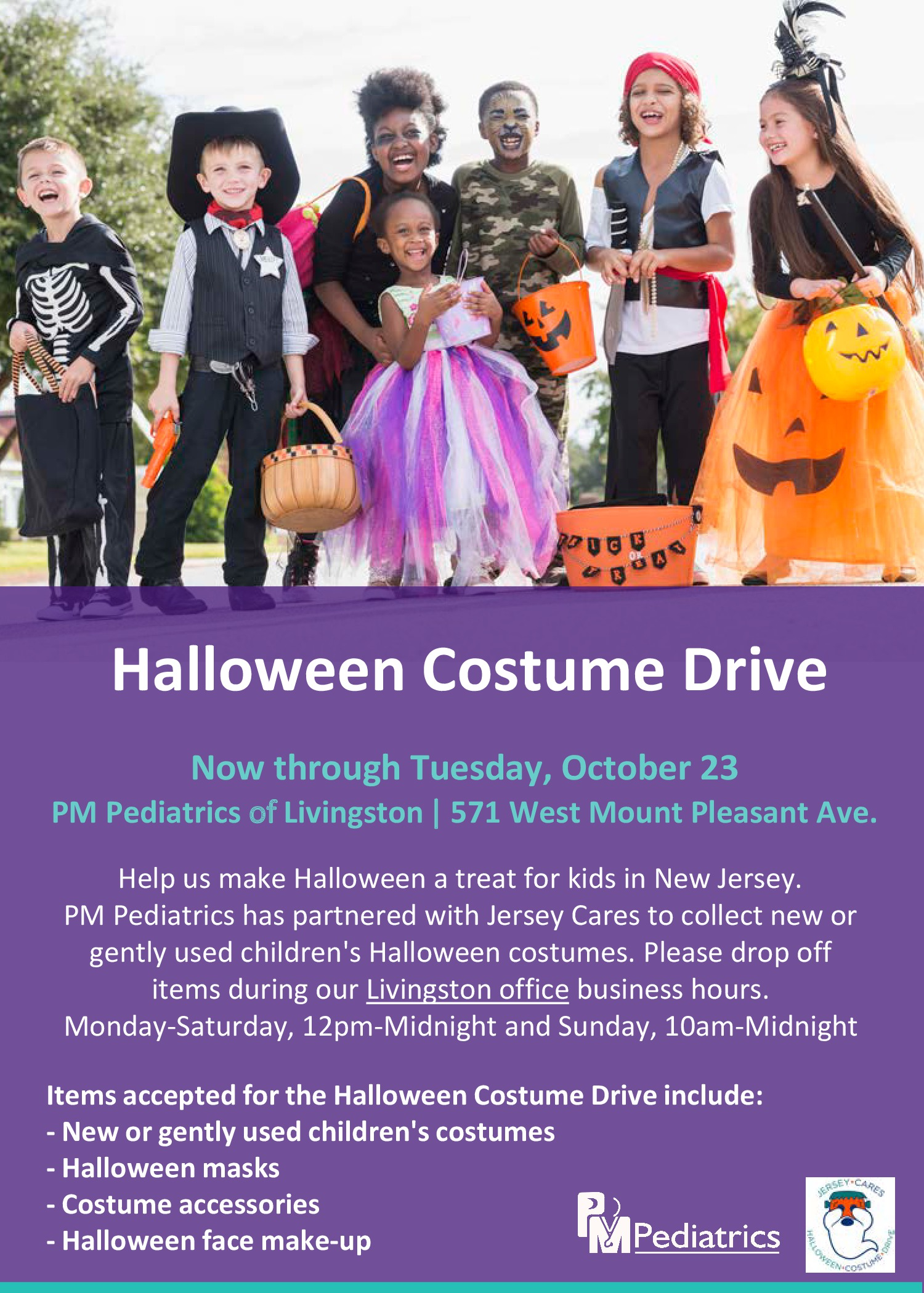 Halloween Costume Drive at PM Pediatrics Livingston