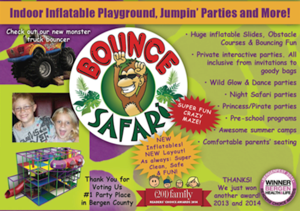 Bounce Safari of Waldwick, NJ offers birthday parties of all sorts!