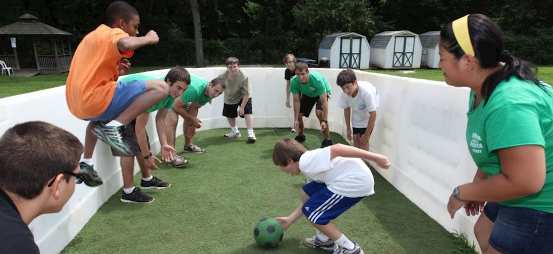 Instruction and practice in variety of sports and activities provide fun as well as development of motor skills and physical fitness.