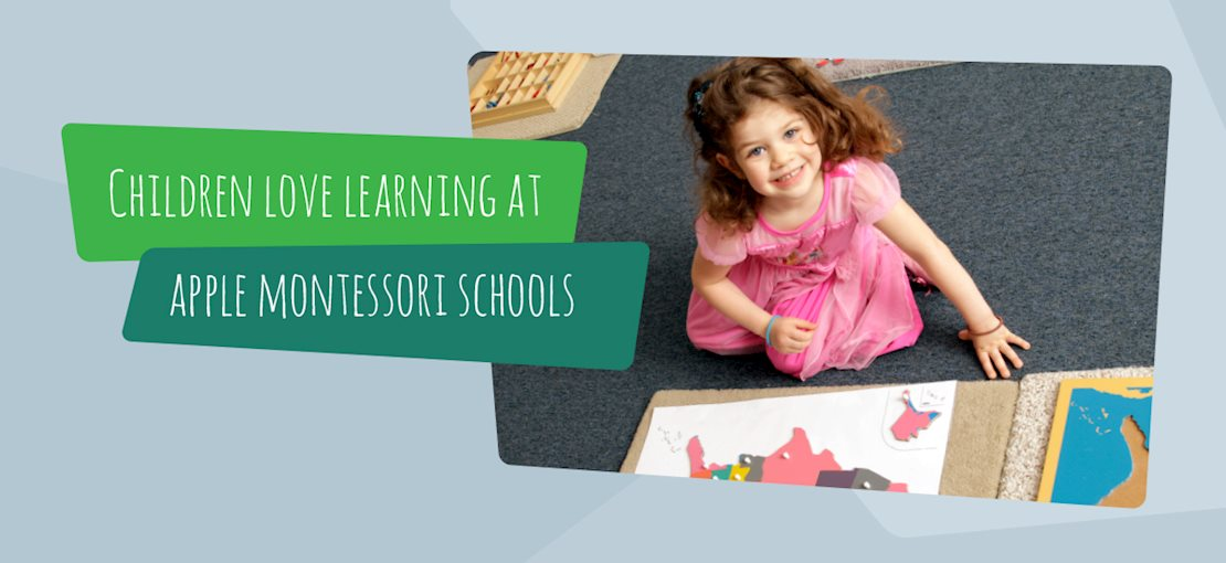 Childen Love Learning at Apple Montessori Schools
