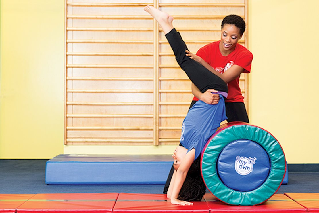 Our trained staff teach older kids to master their gymnastic techniques.