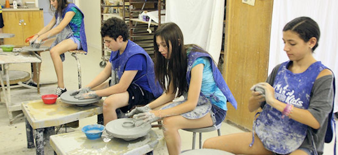 Campus Kids Activities include Arts & Crafts, Ceramics, Drawing, and Painting