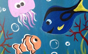 Pinot's Palette: Fish Friends Painting