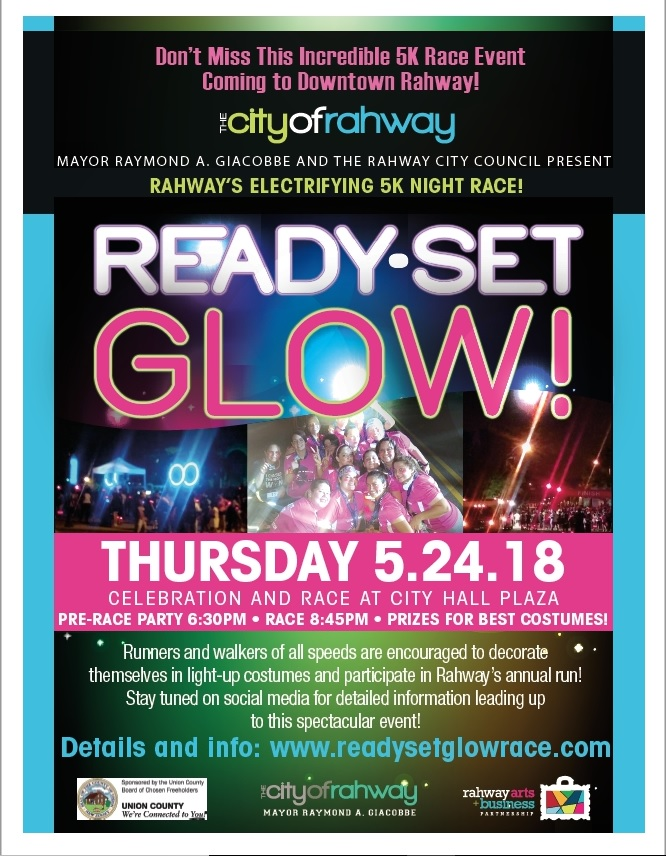 Ready Set Glow 5k Night Race at Rahway City Hall
