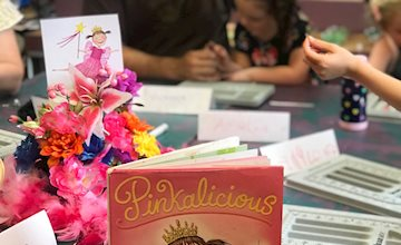 Pinkalicious Reading and Beading Event at Just Bead Yourself
