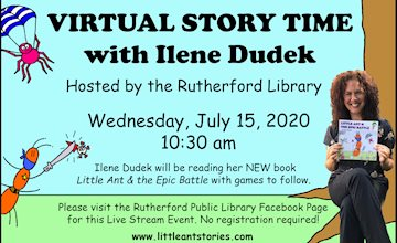 Virtual Story Time with Ilene Dudek - Live Stream Event 7/15/20