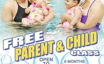 Free Parent & Child swim event at Five Star Swim School