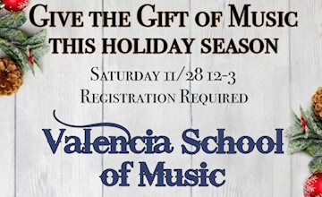 Holiday Open House at Valencia School of Music