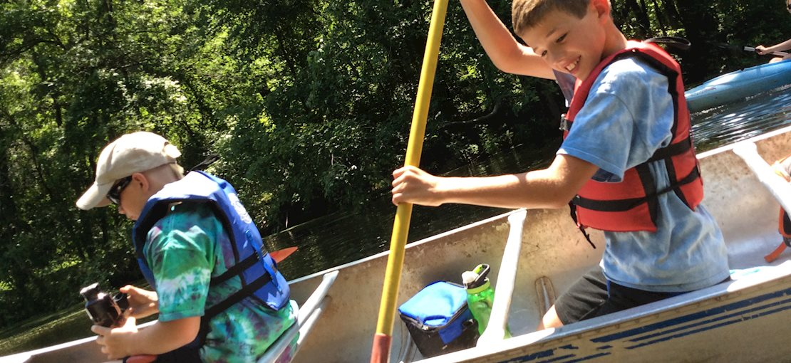 Enjoy 20 miles of clear water canoeing!
