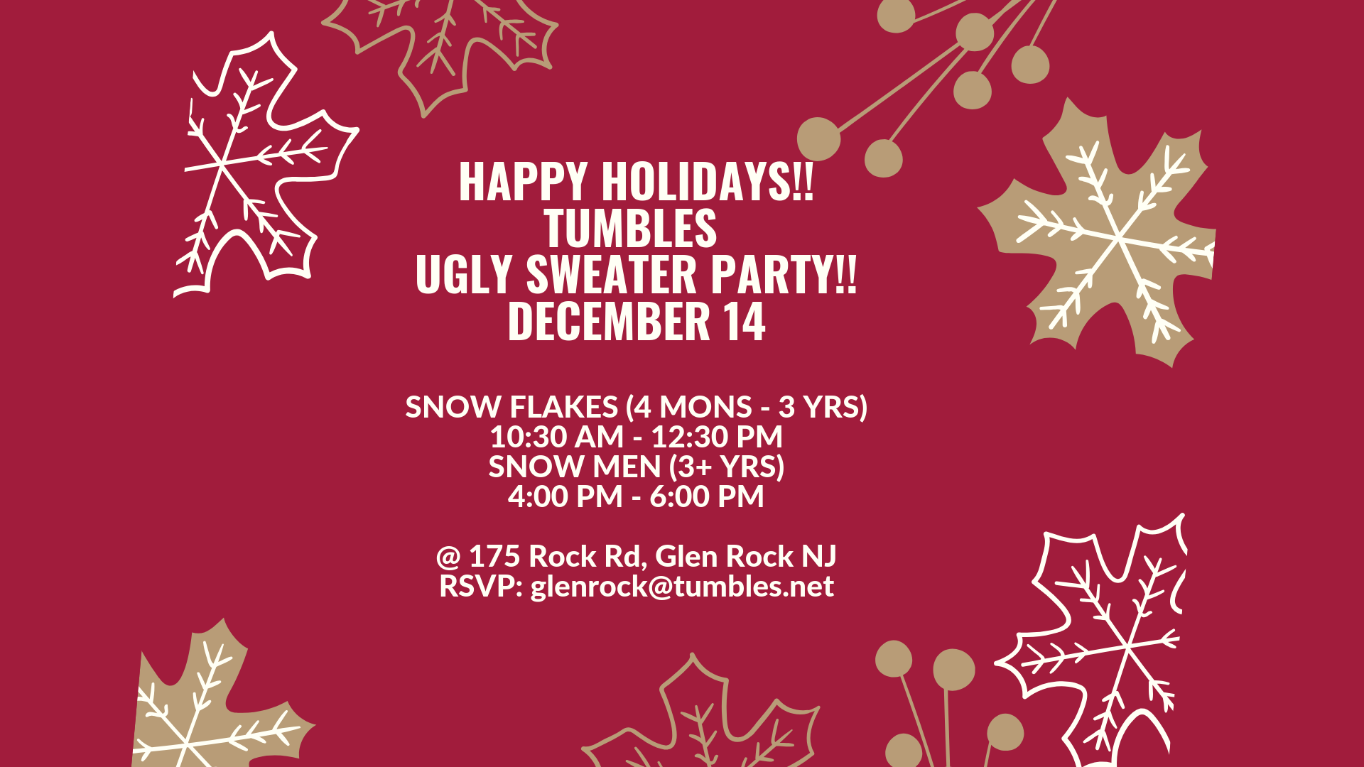 Tumbles Ugly Sweater Holiday Party!
