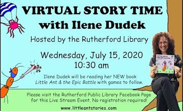 Virtual Story Time with Author Ilene Dudek - Live Stream Event, 7/15/20