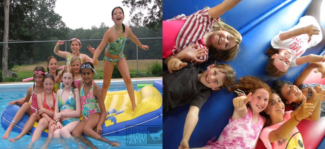 Summer Riding Day Camp. Daily horseback riding is combined with swimming, tennis, arts and crafts, environmental education, ceramics, performing arts, baking, volley-ball, soccer, and nature walks.