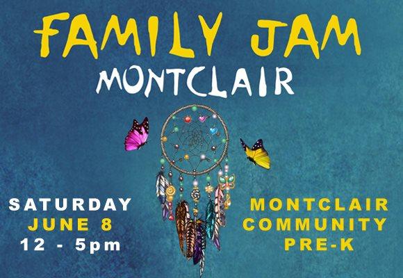 Family Jam Montclair - Friendly Music Festival.  FREE. June 8-9