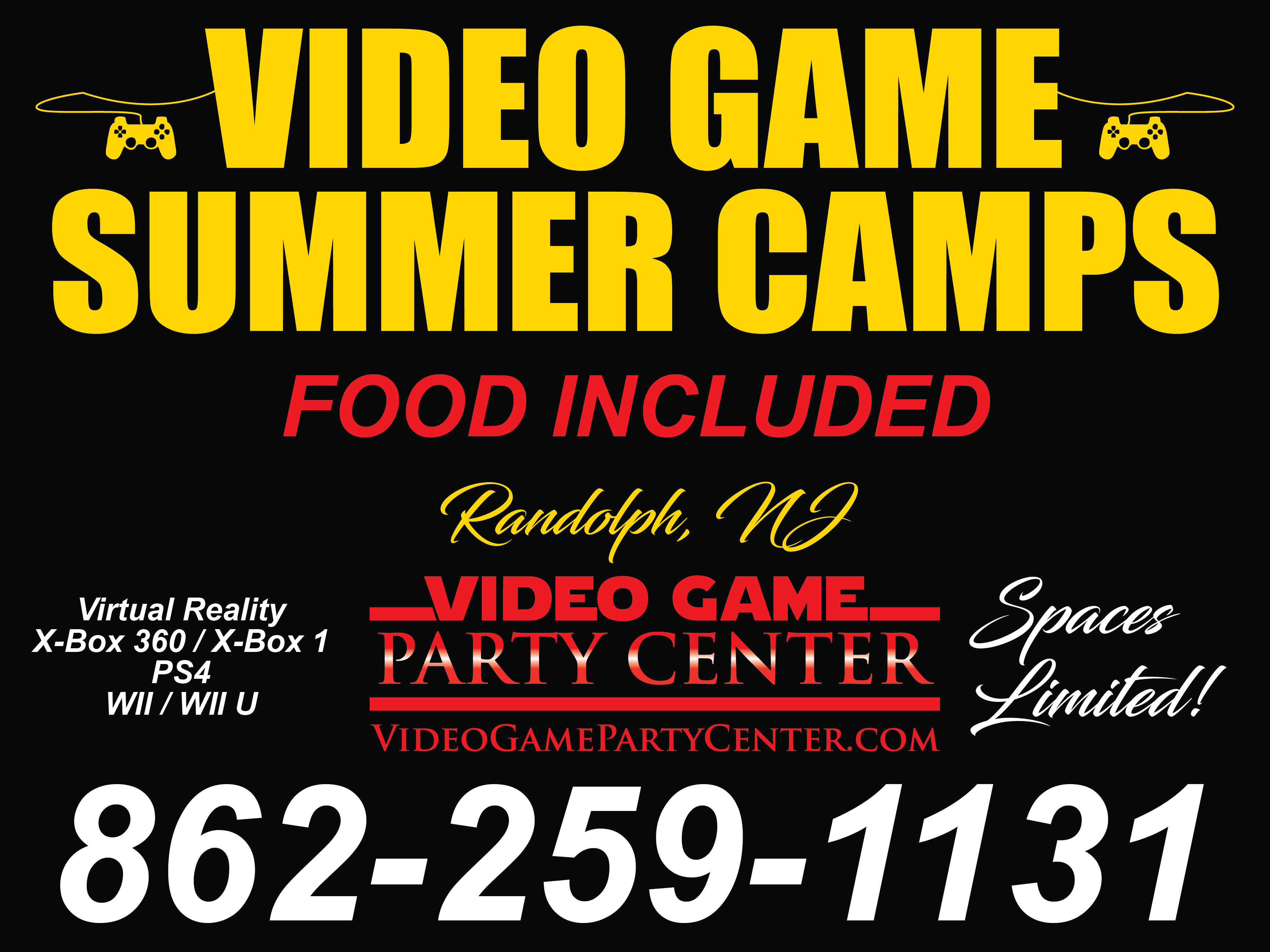 Video Game Summer Camp and Birthday Parties in Randolph, NJ