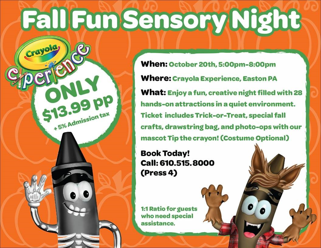 Crayola Experience Fall Fun Sensory Night