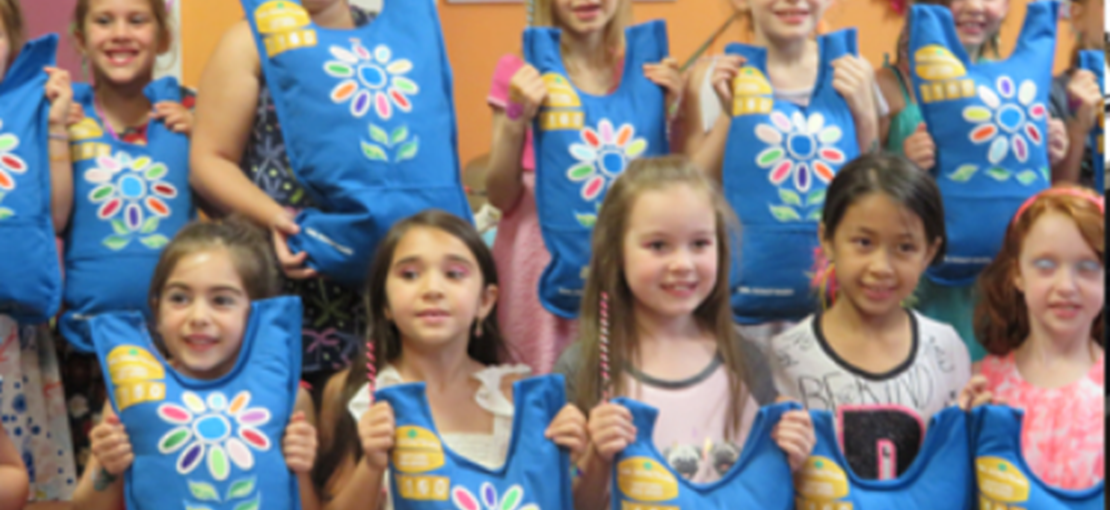 Girl Scout Troups earn their badges at Parteaz