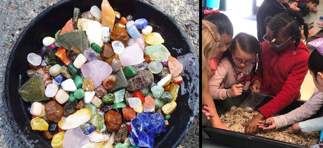 Kids take home REAL minerals with GEMS ROCK