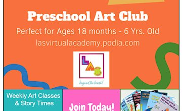 Preschool Art Club (Weekly Virtual Program)