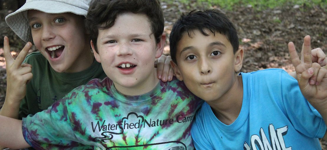 Build shelters, play games, and make a splash on the Watershed Reserve!