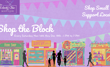 Shop the Block - An Outdoor Holiday Shopping Experience at The Eclectic Chic Boutique