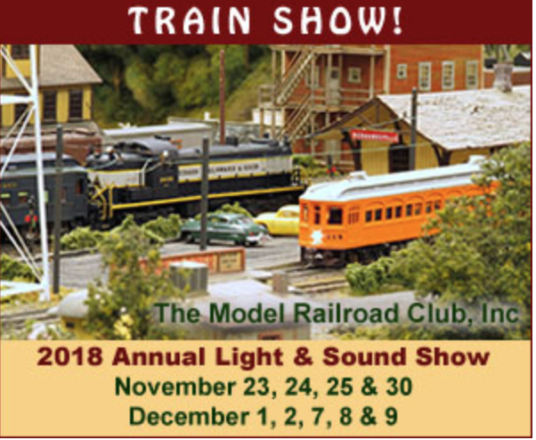 2018 Annual Light and Sound Show at the Model Railroad Club in Union Township