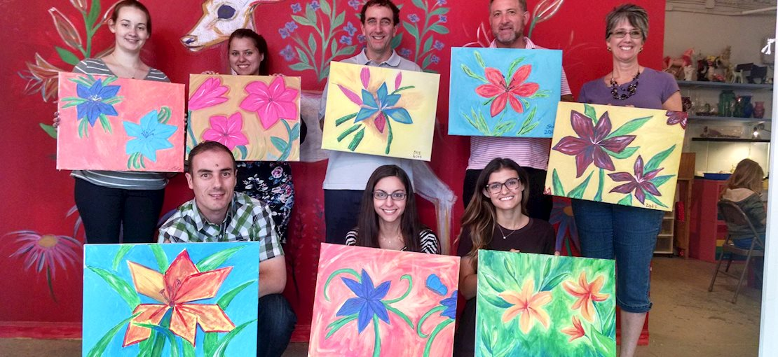 """Cocktails and Canvas"", adult painting class!"