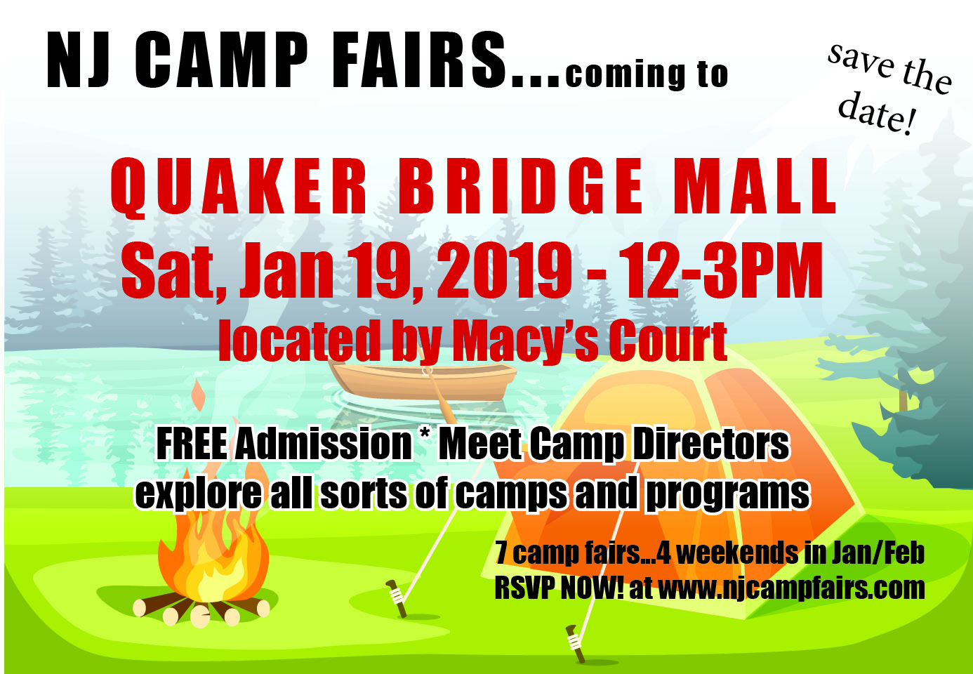 NJ CAMP FAIRS at the Quaker Bridge Mall