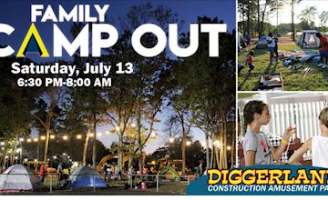 Family Camp Out at Diggerland