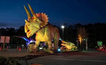 Dino Safari Drive thru Adventure at the Westfield Garden State Plaza
