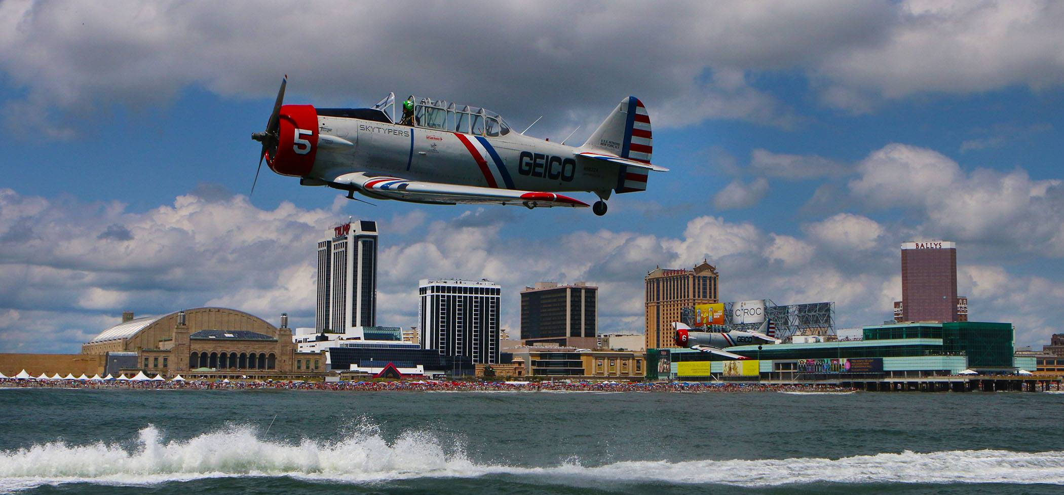Atlantic City Airshow at the Atlantic City Boardwalk