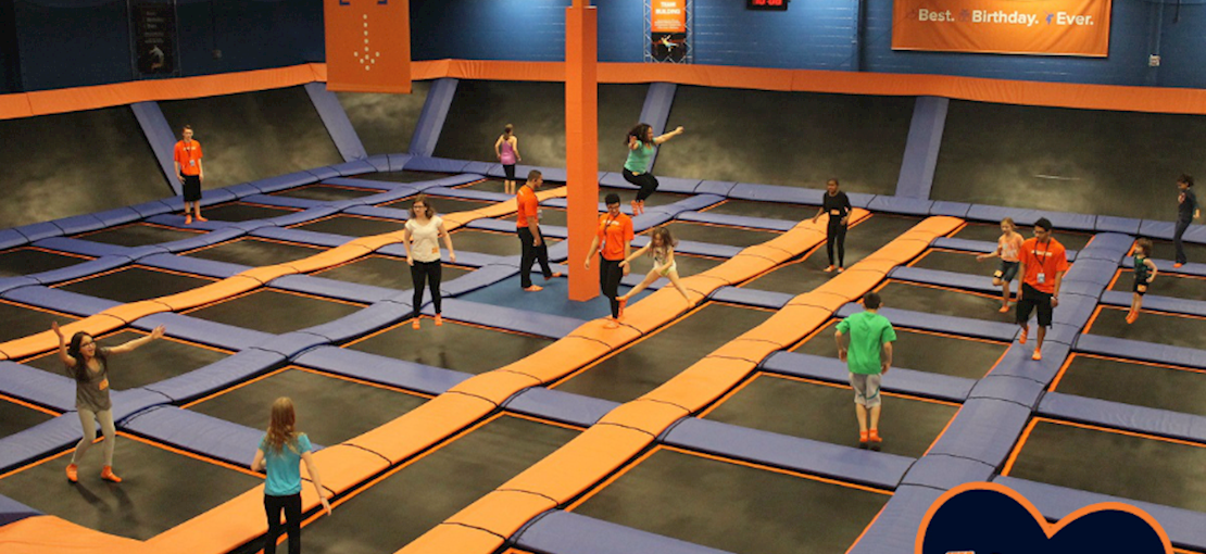 Massive Wall to Wall Trampolines for endless aerial action with friends.