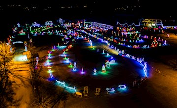 Christmas Light Show & Outdoor Village at Skylands Stadium