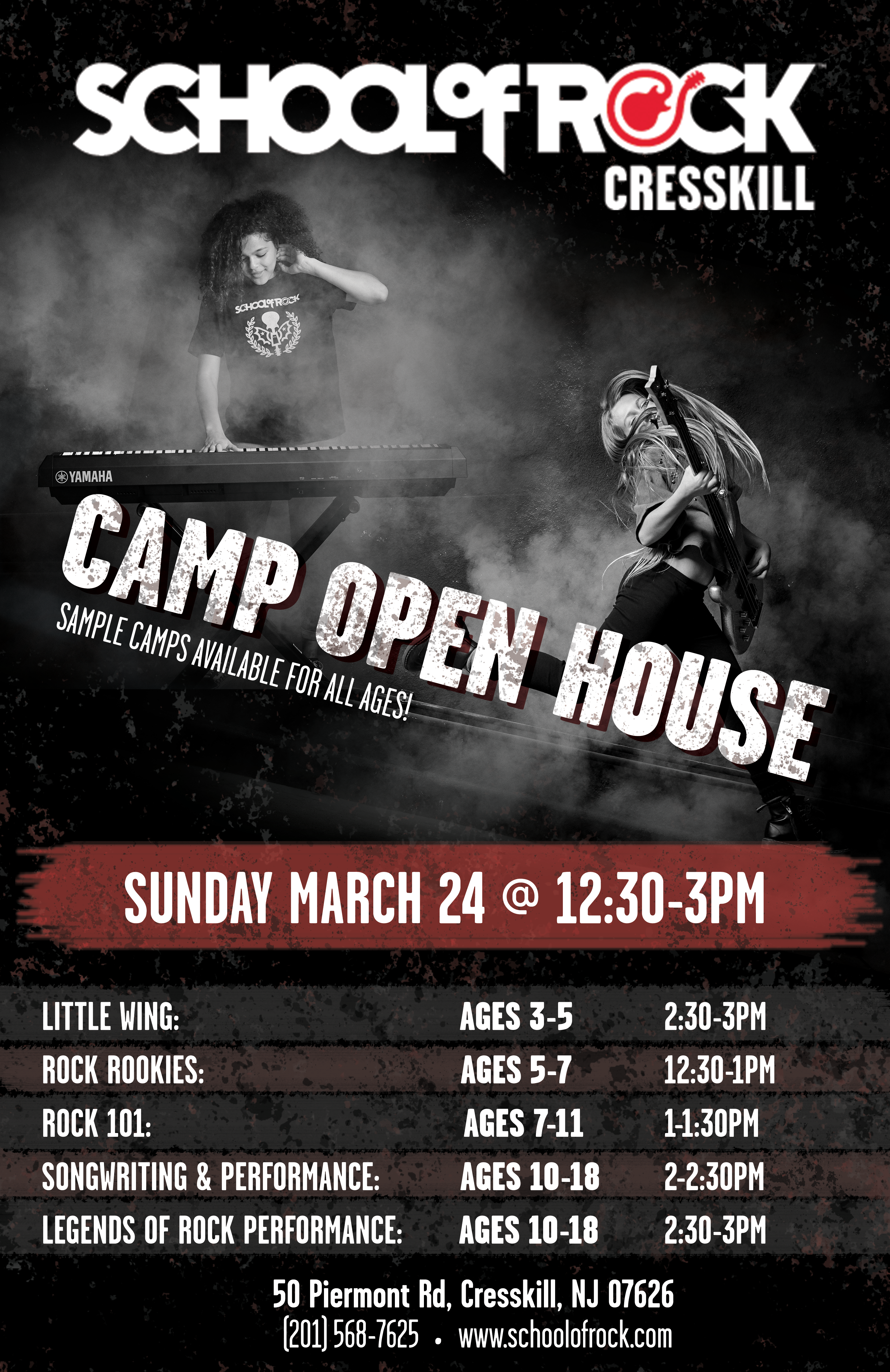 School of Rock Cresskill Camp Open House