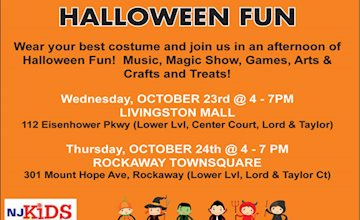 Join NJ Kids: Halloween Fun at Livingston Mall
