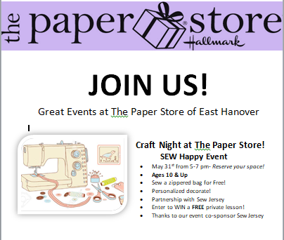 Sew Fun at the Paper Store in East Hanover