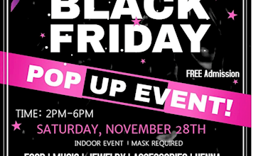 Black Friday Pop Up Event to Support Local Businesses