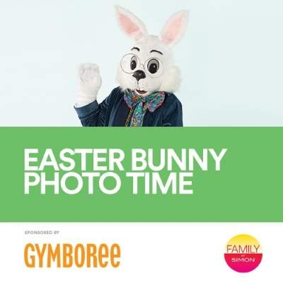Photos with the Easter Bunny at Quaker Bridge Mall