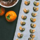 Chocolate-Dipped Clementines with Pistachios