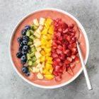 Glowing Rainbow Smoothie Bowl