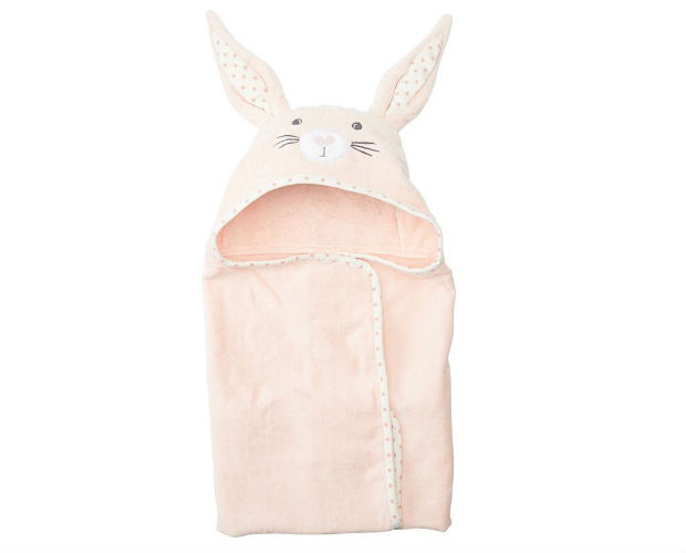 pink bunny towel