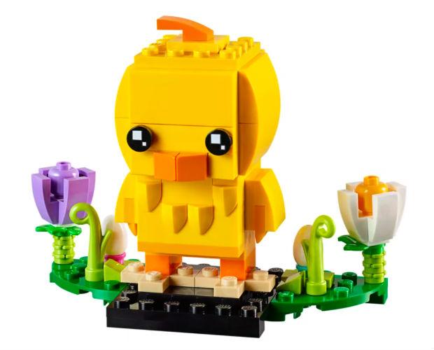 yellow lego chick