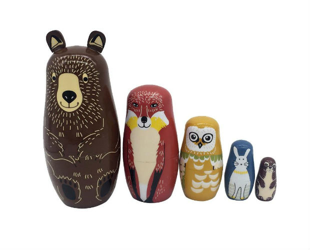 animal themed nesting eggs