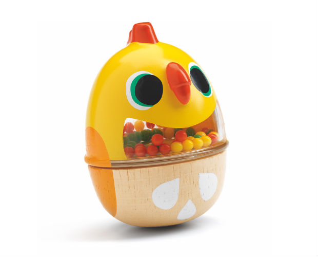 wooden easter chick toy