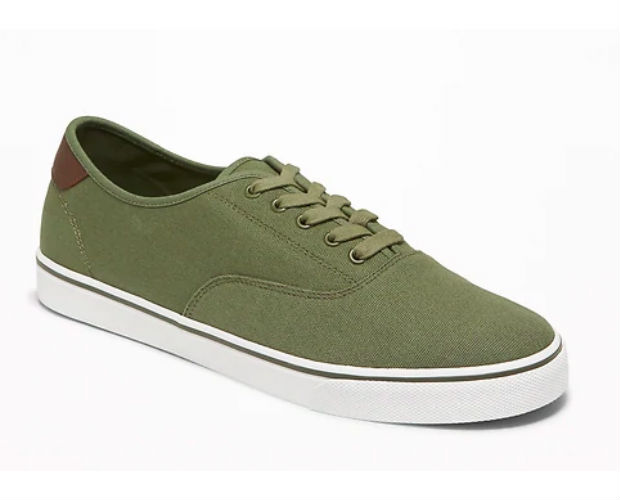 green slip on sneakers
