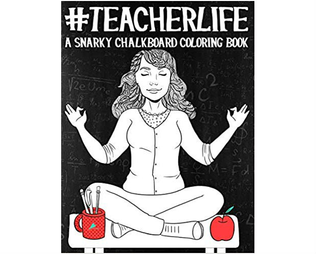 adult colouring book for teachers
